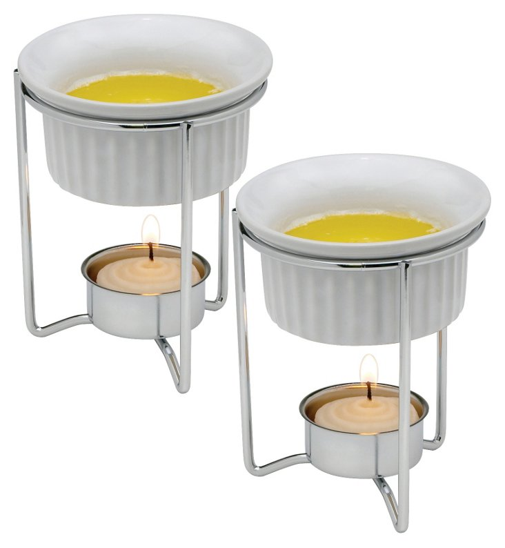 S/4 Ceramic Butter Warmers