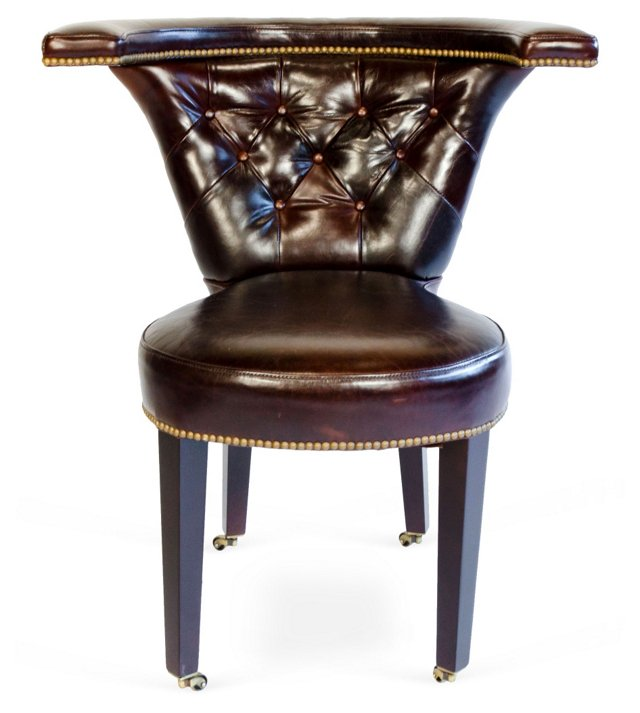 Contemporary Leather Game Chair