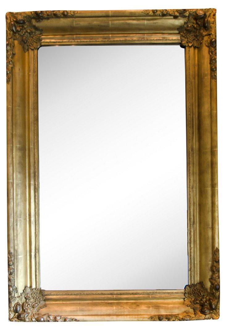 Rectangular Gold-Leafed Mirror