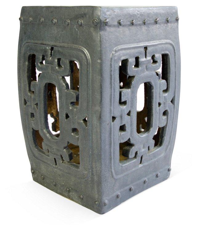 Gray Porcelain Garden Stool