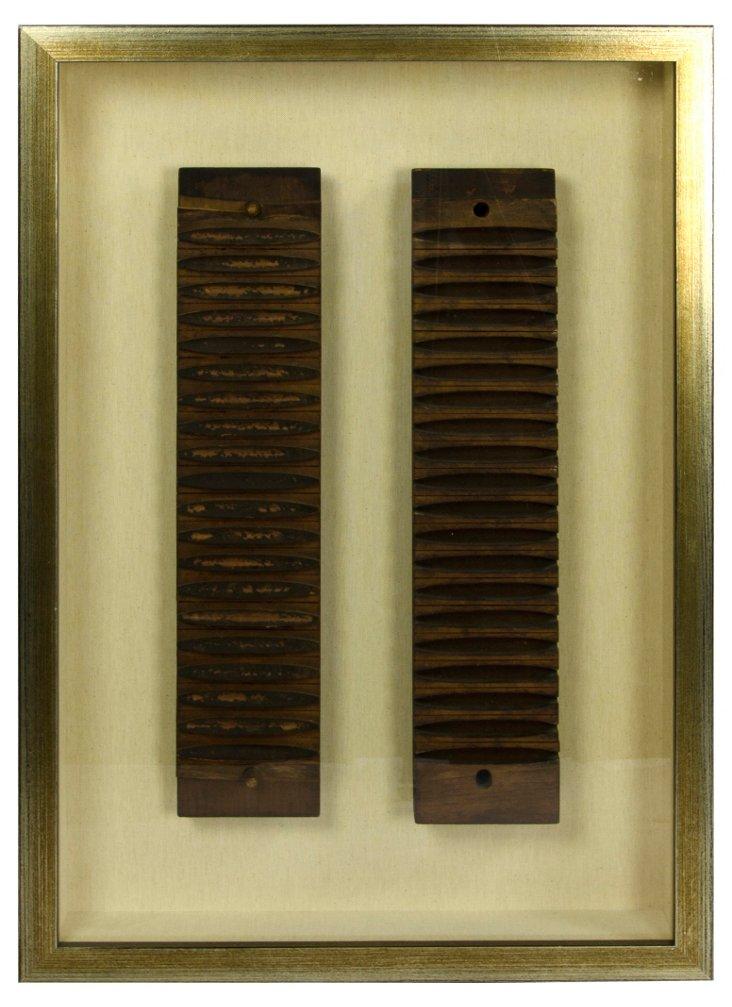 Framed Antique Cigar Molds