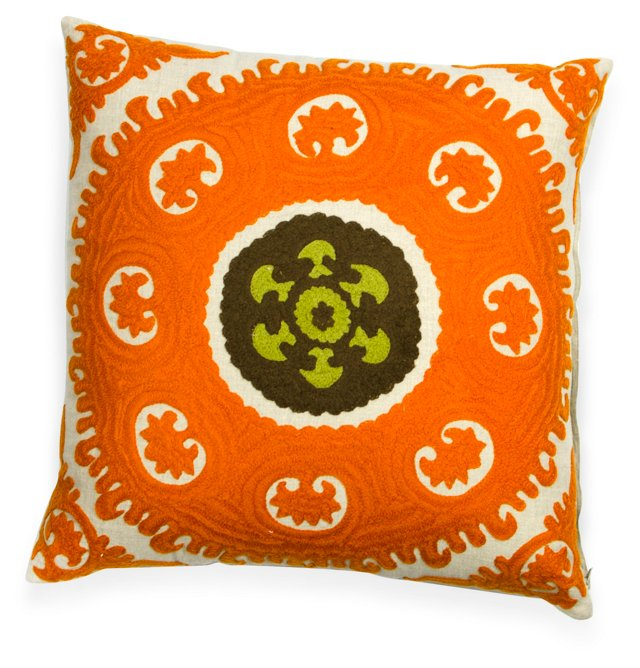 Embroidered Suzani Pillow