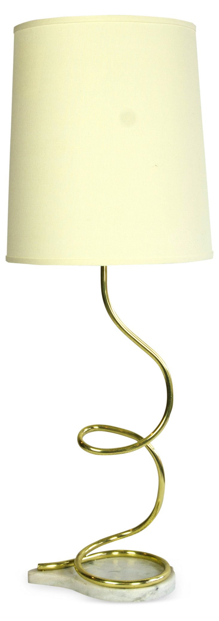 Contemporary Spiral Brass Lamp