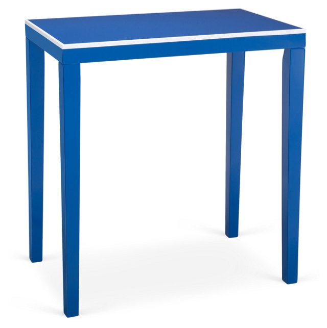 Finley Side Table, Blue