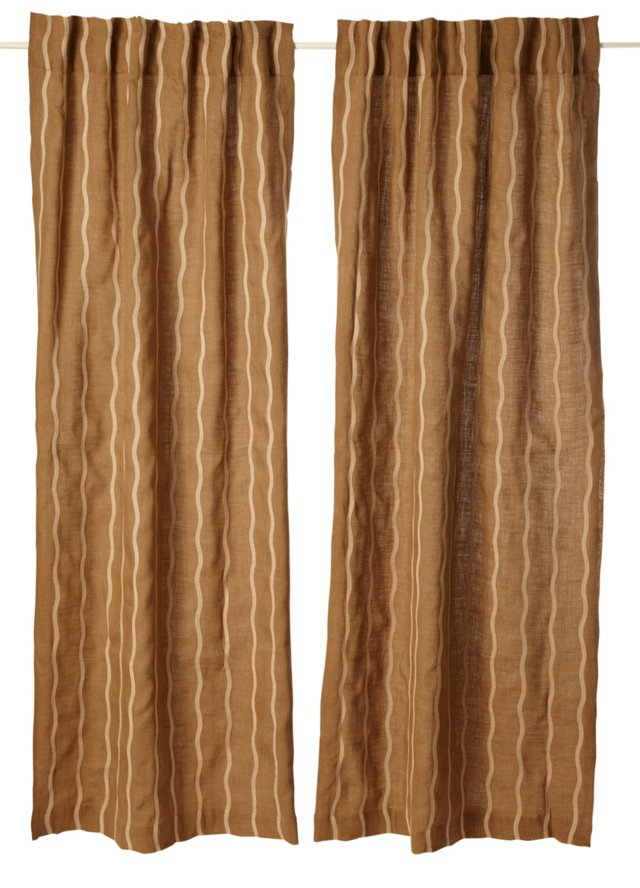 Set of 2 Infinate Curtains, Olive Gray