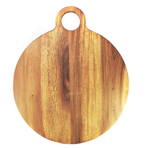 Extra Large Round Acacia Board, Natural