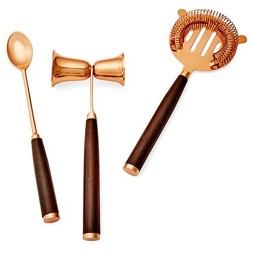 Asst. of 3 Campbell Bar Tools, Copper/Mocha