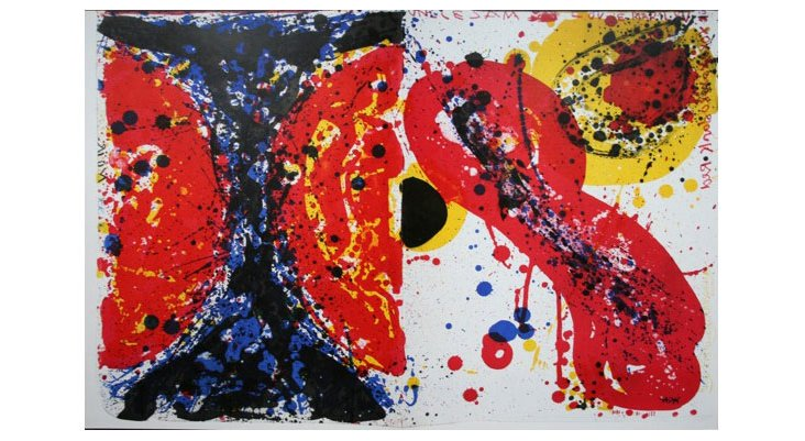 Untitled, 1964 (diptych), Sam Francis