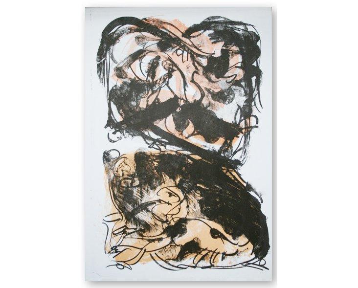 Untitled, 1964, P. Alechinsky (black)