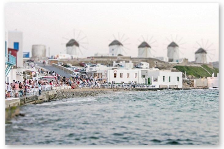 Silver, Tilt Shift Greek Windmills