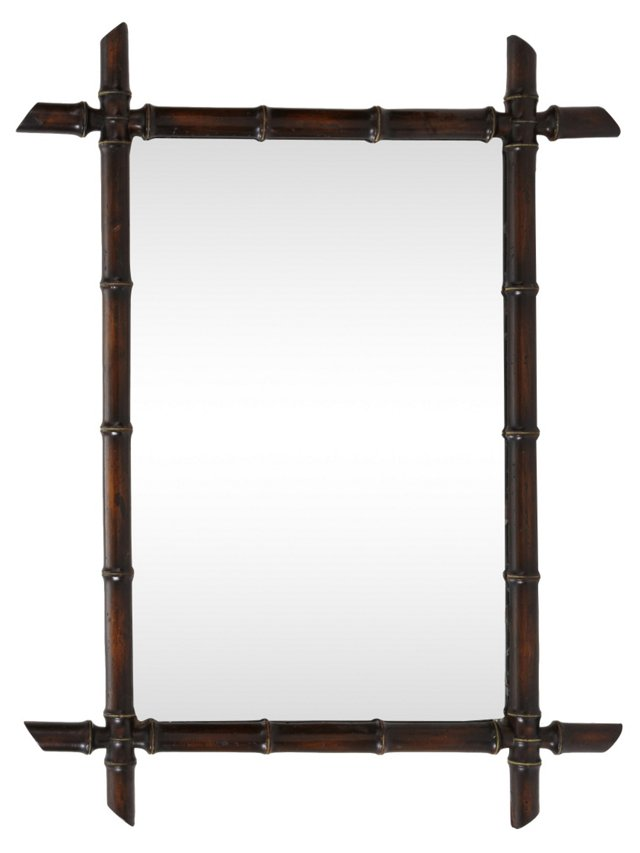 French Bamboo-Style Mirror