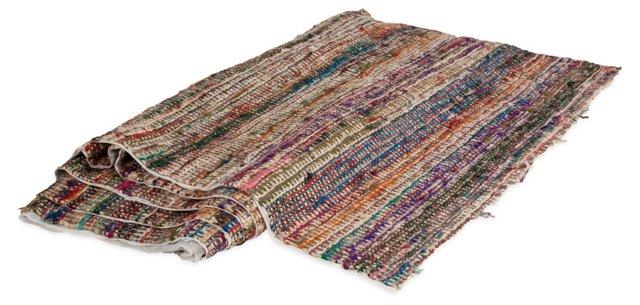 1970s Ribbon Fabric, 7 Yds