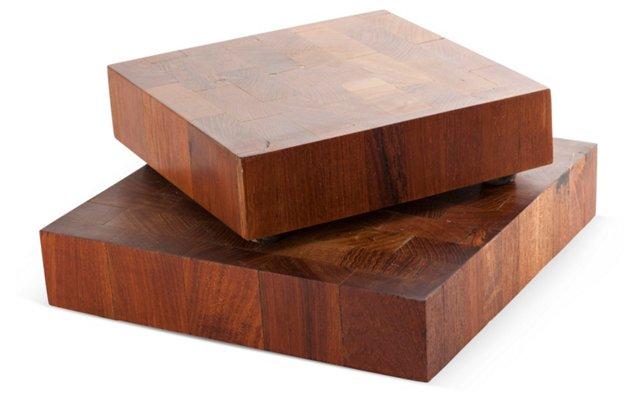 Teak Cutting Boards, Pair