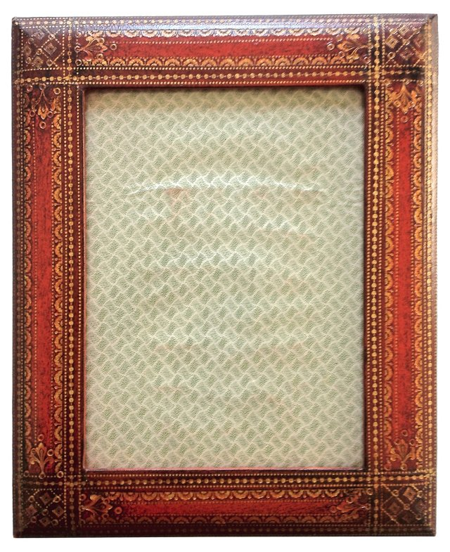 Florentine Leather Photo Frame