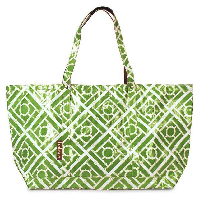Large Tote, Aqua Little Harbor