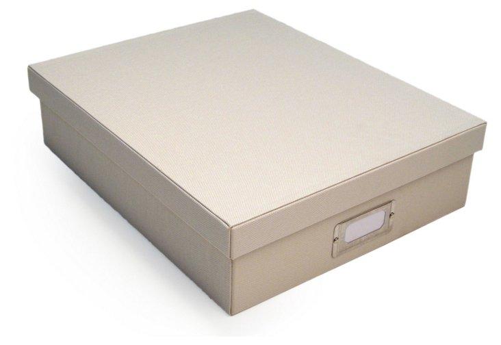 S/2 Document Boxes, Cream