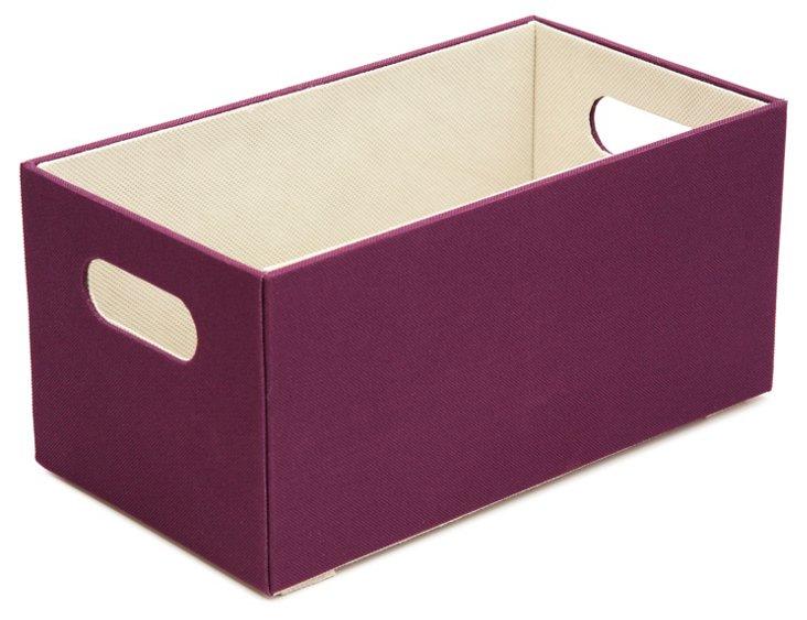 S/2 Open Top Boxes, Purple