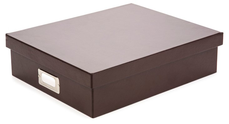S/2 Document Boxes, Brown