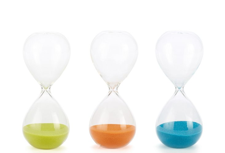 Hourglass Set, Blue, Green, Orange
