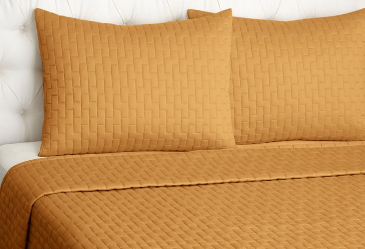 Qn Bamboo Coverlet Set, Copper