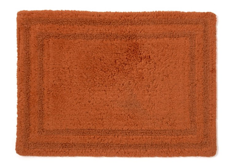 Cotton Reverse Rug Small, Paprika