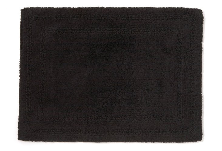 Cotton Reverse Rug, Black