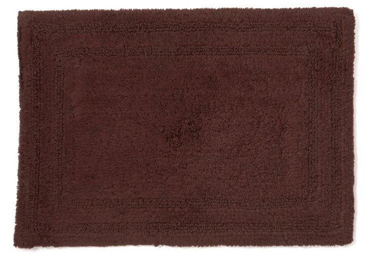 Cotton Reverse Rug, Chocolate
