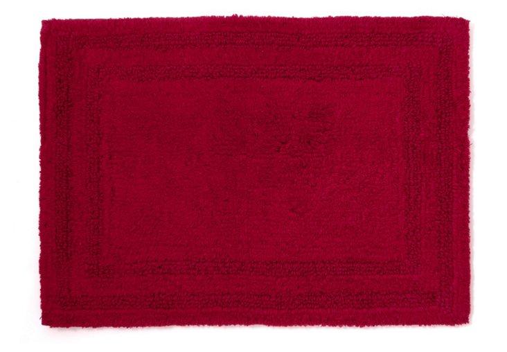 Cotton Reverse Rug, Claret