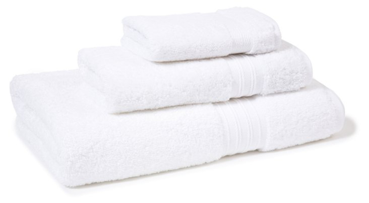 3-Pc Supima Cotton Towel Set, White