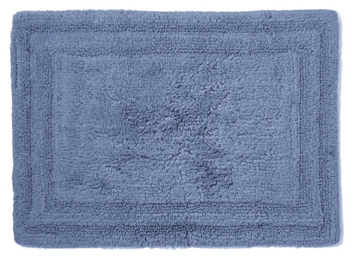Cotton Reverse Rug, Periwinkle