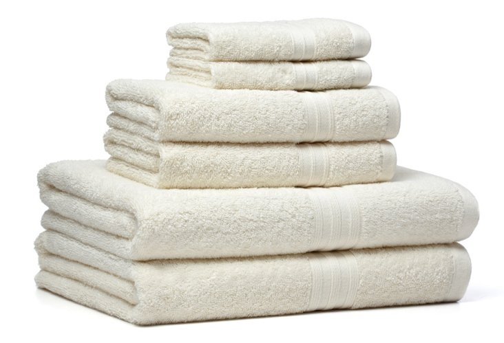 6-Pc Regenerated Towel Set, Ivory