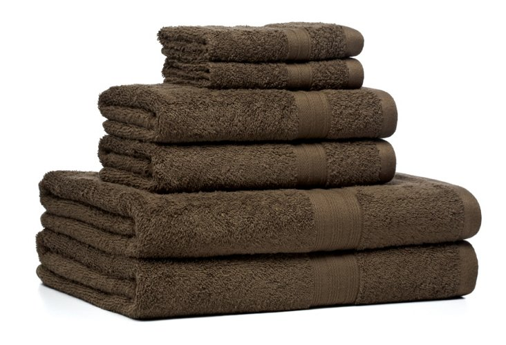 6-Pc Regenerated Towel Set, Bark