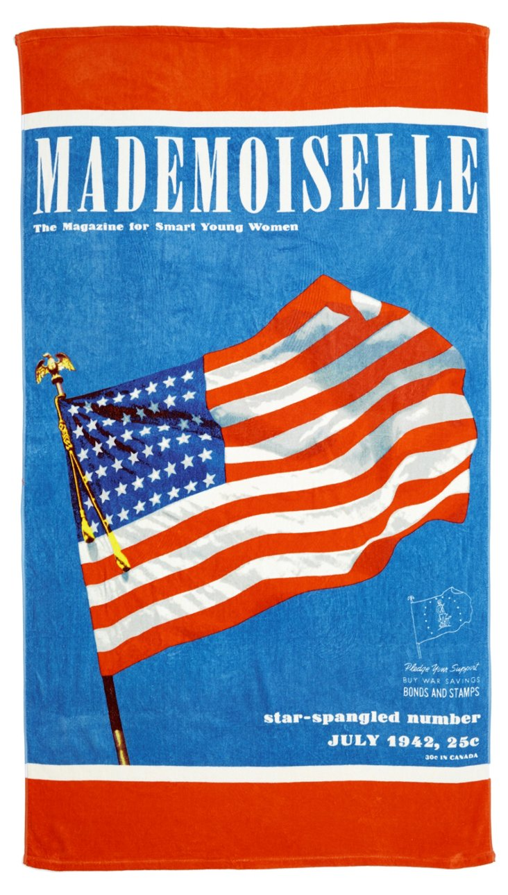 Mademoiselle Flag Beach Towel