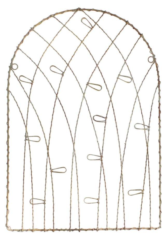 Jardin Wire Memo Board, Antique White
