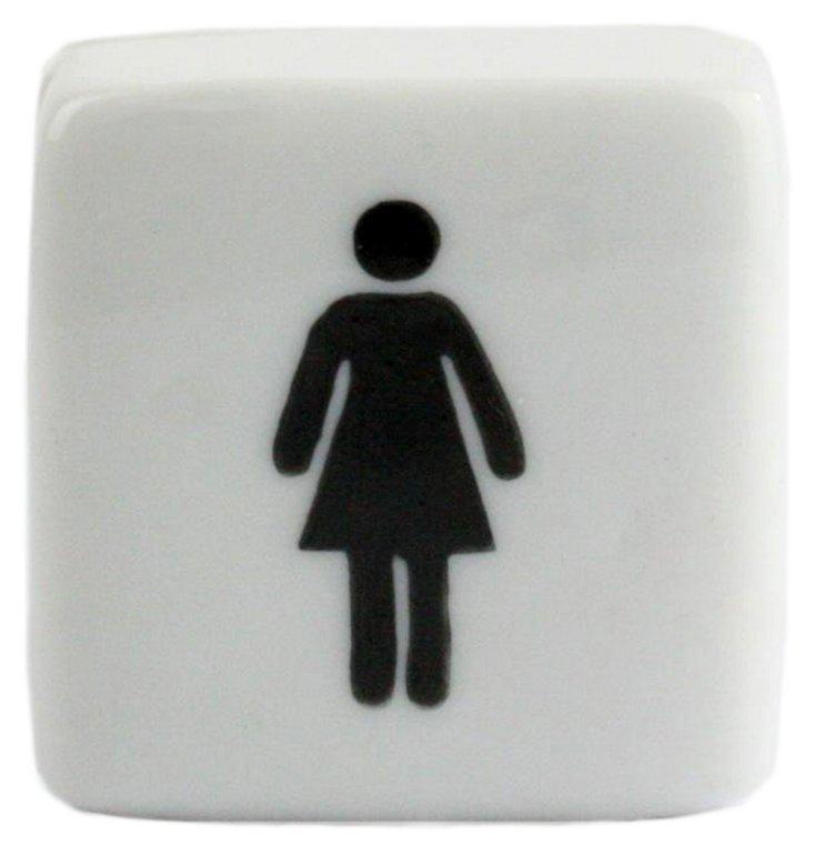 S/2 Female Porcelain Boxes