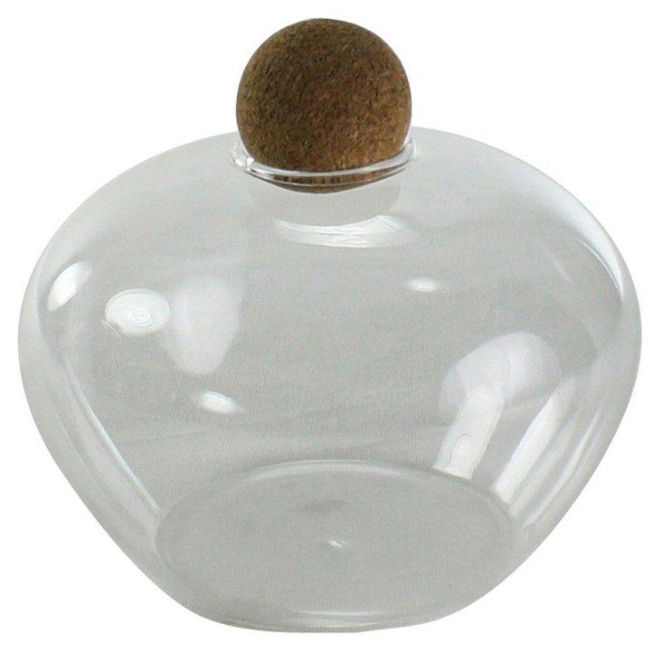 Pair of Sable Glass Jar w/ Cork