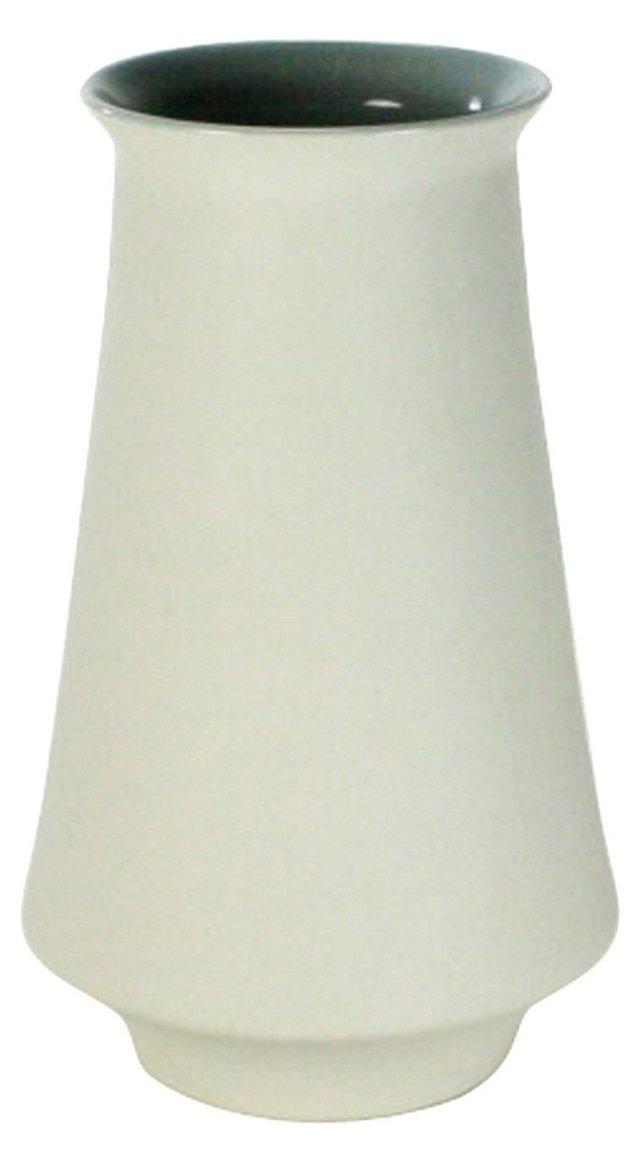 """8"""" Pacific Ceramic Vase, White"""