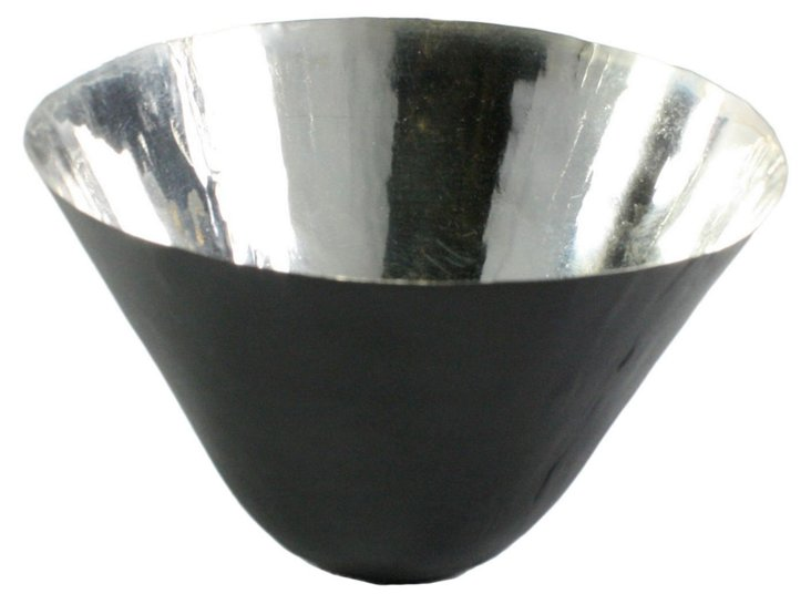 """5"""" Conical Bowl, Black/Silver"""