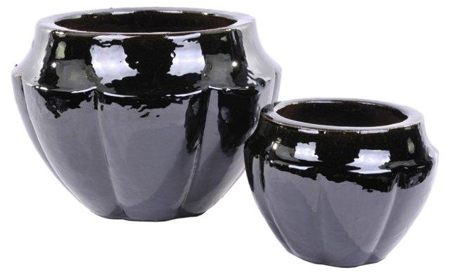 Asst. of 2 Neiman Planters, Black
