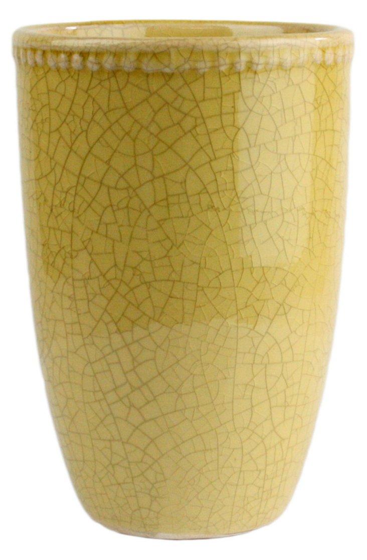 "5"" Parisian Vase, Yellow"
