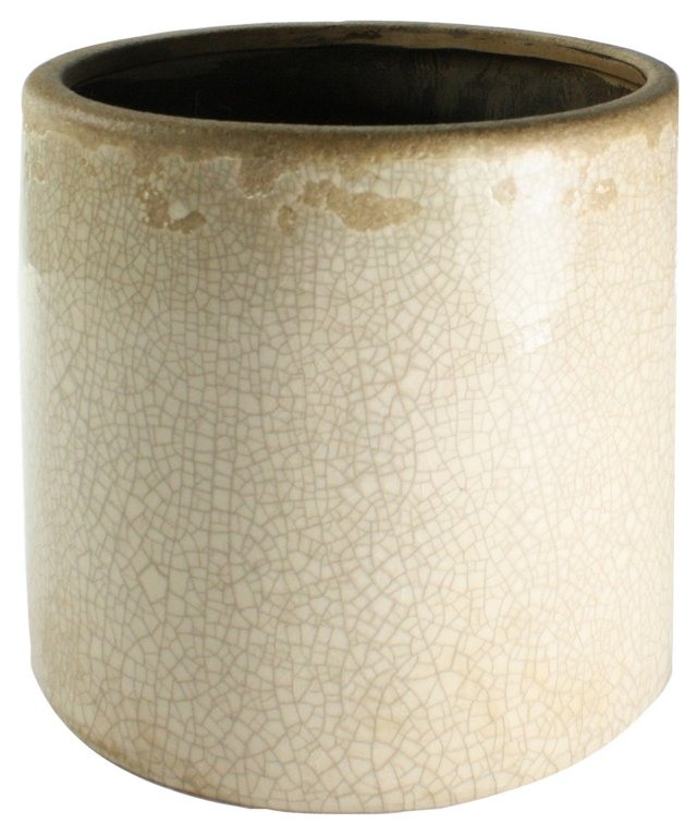 "8"" Ceramic Vase, White"