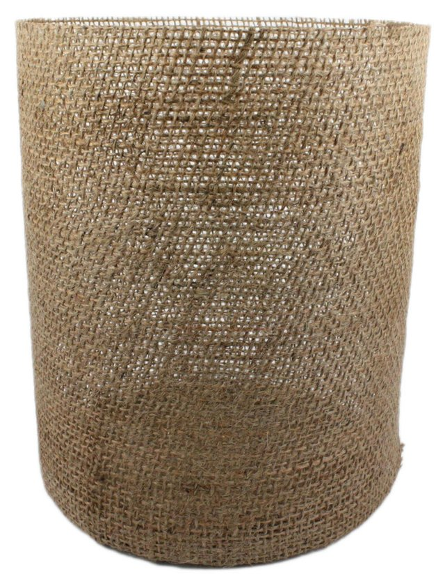 "9"" Burlap Vase, Brown"