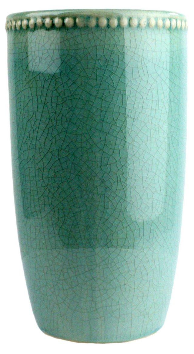 "11"" Parisian Vase, Teal"