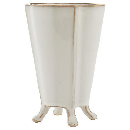 Rue Footed Ceramic Vase, Medium