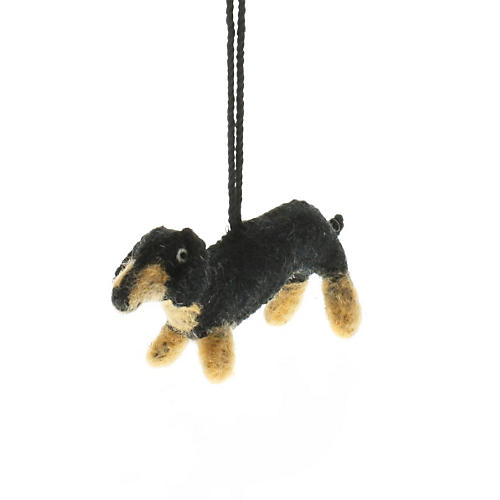"5"" Dachshund Ornament, Black"