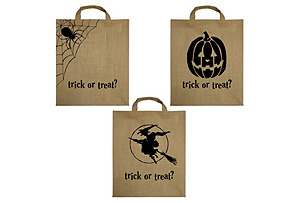 "Asst. of 12 16"" Trick-Or-Treat Totes"