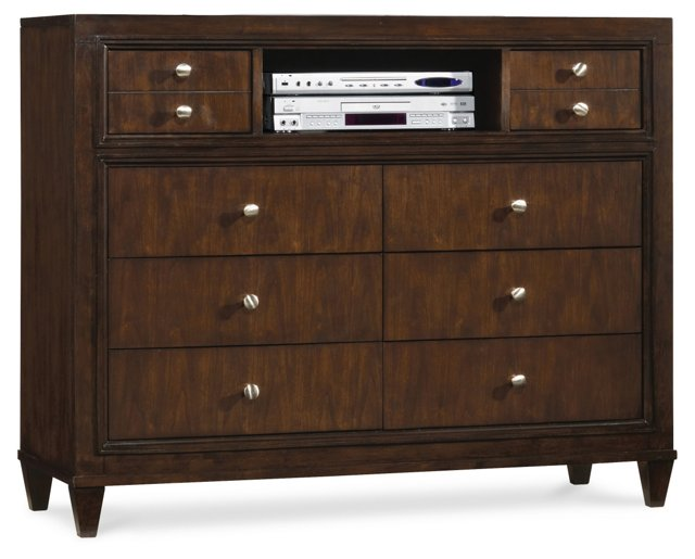 "Brent 50"" Media Chest, Chocolate"
