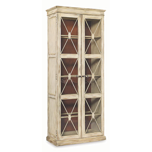 Olivia 2-Door Display Cabinet, Dune