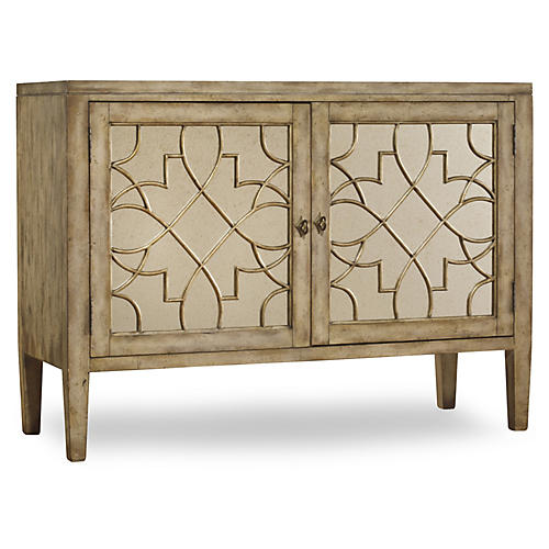 "Wellie 53"" Mirrored Sideboard, Sand"
