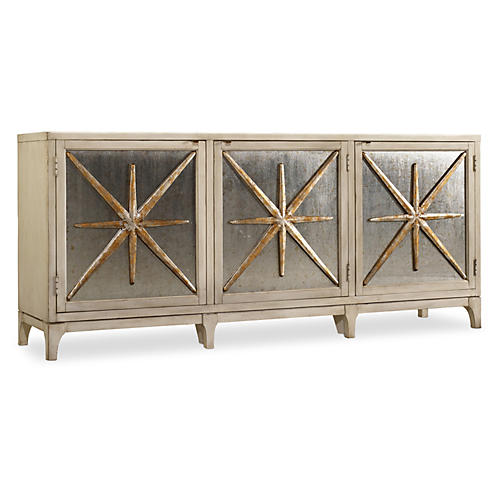 "Stella 80"" Metallic Star Sideboard"